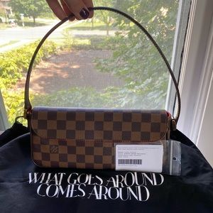 Authentic Louis Vuitton Damier EbeneRecoleta Purse